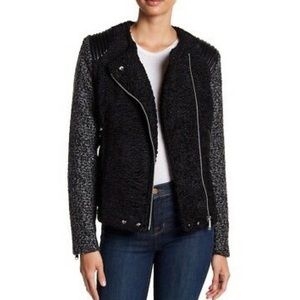 Sam Edelman Asymetrical Faux Shearling Moto Jacket